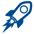 Fast Rocket Icon GREY